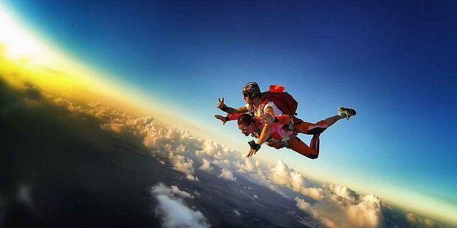 Mauritius sky diving