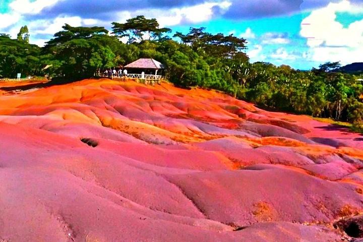 Seven coloured chamarel Mauritius
