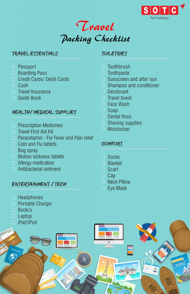 Your Ultimate Travel Packing Checklist Sotc Blog